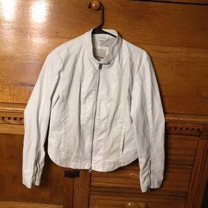 Calvin Klein Jeans White Leather-Like Jacket